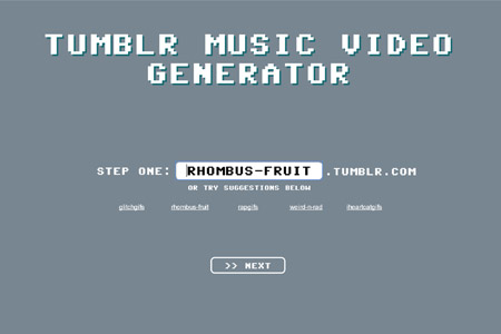 Tumblr Music Video Generator | Master of Shapes